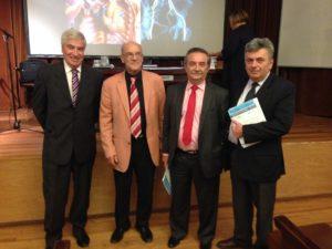 Dres . Jorge Fernández, Jean Francois Uhl, David Lesnik y Daniel Onorati.